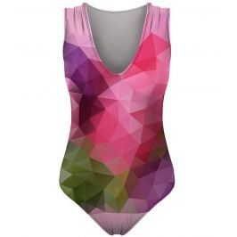Swimsuit Violet Geometric S
